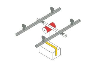 レールシステム+ドラム型バランサー+クランプアタッチメント