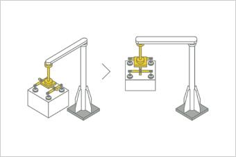 外径クランプ&回転機構